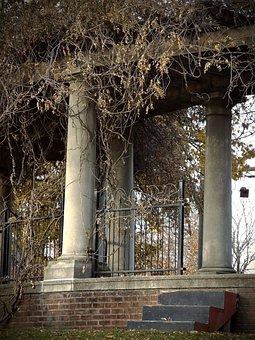 Columns, Arbor, Pergola, Picturesque, Peaceful, Gazebo