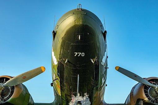 Propeller, Aircraft, Transport, Aviation, Military, Ww2