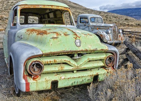 Truck, Car, Old, Ancient, Rusty, Old Timer, Vehicle