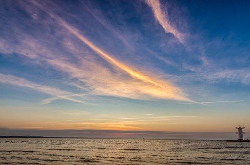 Sea, Sky, Clouds, Twilight, Landscape, Nature, Scenery