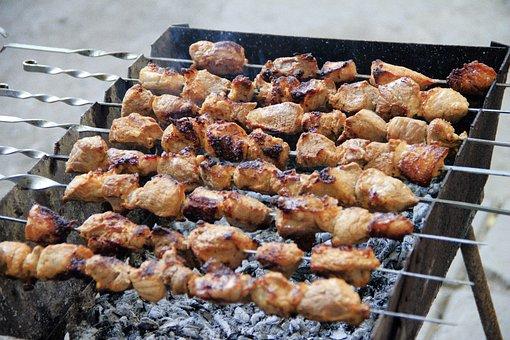 Shish Kebab, Meat, Mangal, Skewers, Nutrition, Food