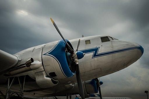 Airplane, Engine, Flight, Blue, Flying, Sky, Freedom