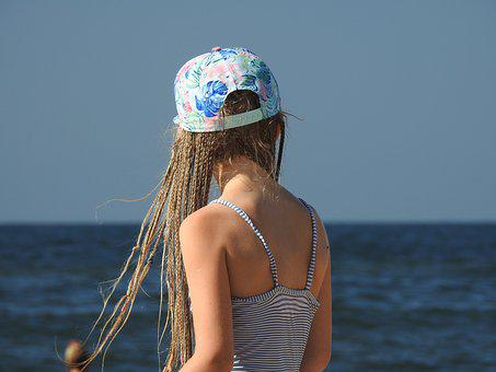 Child, Sea, Beach, The Little Girl, Water, Summer, Sky