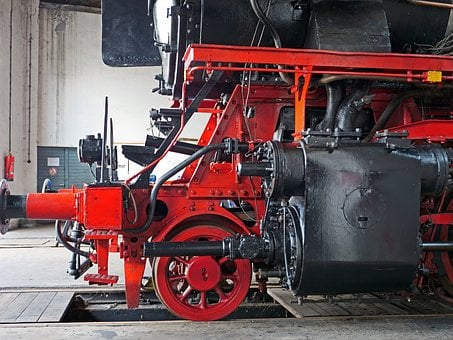Steam Locomotive, Engine, Cylinder Block