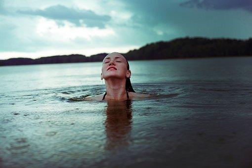 Girl, Storm, Water