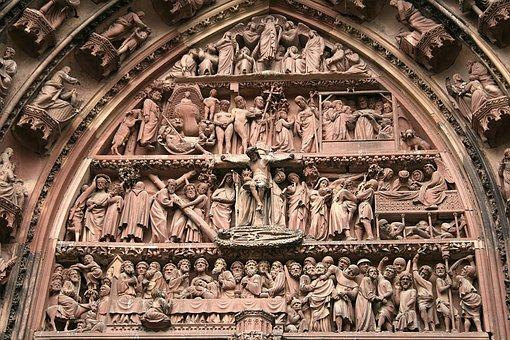 Strasbourg, Münster, Stonemason Work, Church