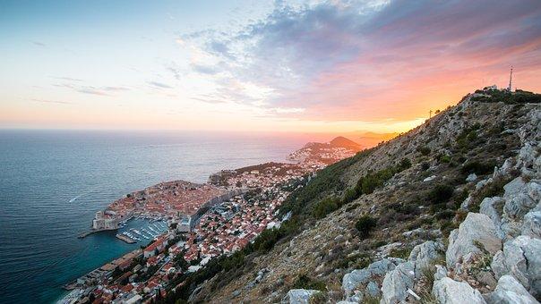 Sunset, Dubrovnik, Sea, Summer, Sky, Evening, Landscape