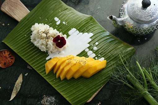Mango Sticky Rice, Mango, Thai Dessert, Coconut Milk