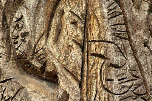 Wood, Carved, The Background, Texture