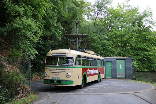 Trackless Trolley, Trolley Bus, Transport, Trolley
