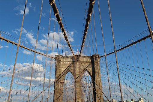 Brooklyn, Bridge, Walking, Nyc, Manhattan, Usa, City
