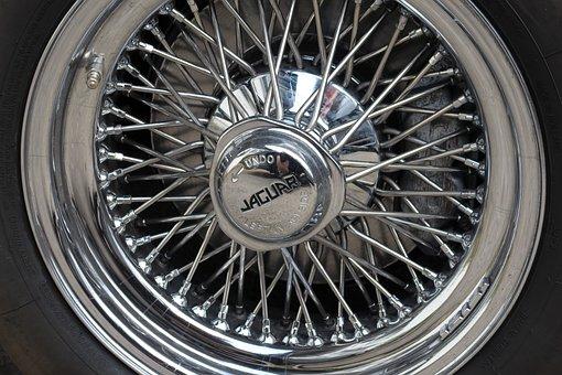 Jaguar, E Type, Rim, Chrome Rim, Wire Rim, Drahtrad