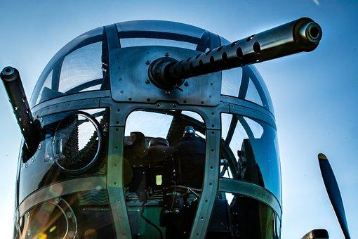 Bomber, Vintage, Ww2, Military, Aircraft, Plane