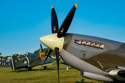 Spitfire, Fighter, Vintage, Ww2, Military, Aircraft