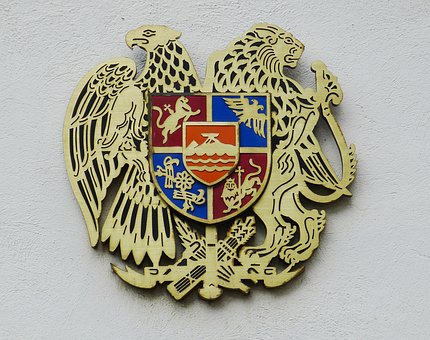Armenia, Asia, Coat Of Arms, Image, Lion, Adler, State