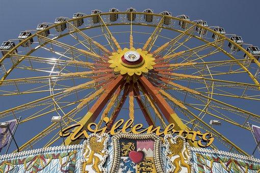 Ferris Wheel, Gondolas, Folk Festival, Autumn Festival