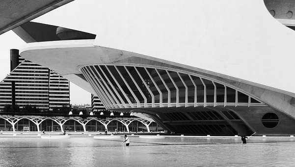 Valencia, Black And White, Architecture, Calatrava