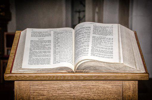 Book, Holy Scripture, Bible, Lectern, Desk, Religion