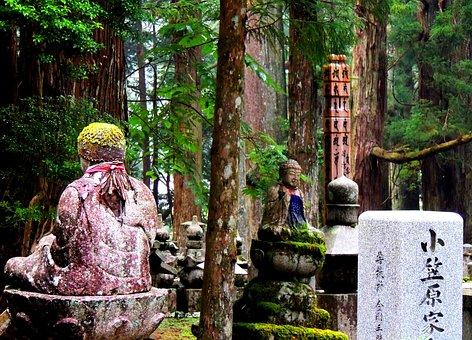 Koyasan, Japan, Buddhism, Jizo, Forest