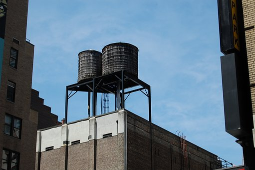 Water, Tank, Roof, Sky, Waterpolo, Tower, Building, Old