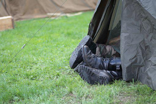 Camp, Tent, Combat Boots, Boots, Shoes, Camping