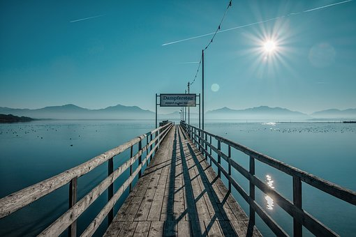 Jetty, Chiemsee, Boardwalk, Pier, Vacations, Shipping