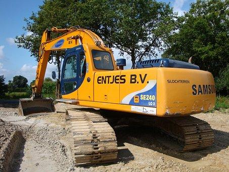Excavators, Samsung, Close Up, Datailaufnahme, Blade