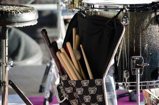 Drums, Stage, Music, Concert, Band, Instrument, Sound