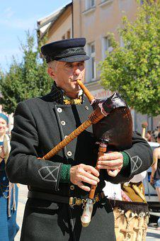 Bagpipes, Music, Musician, Music Festival, Costumes