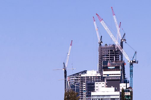 Under Construction, Building, Cranes, Construction
