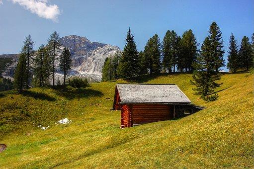 Prato Piazza, Dolomites, Croda Rossa, Alm, Nature