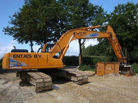 Excavators, Site, Contractors, Entjes B V