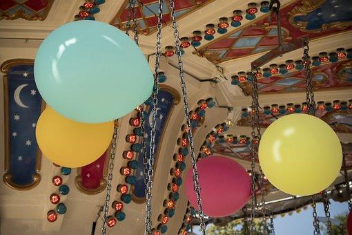 Balloon, Kettenkarusell, Folk Festival, Autumn Festival
