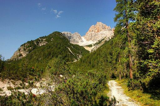 Croda Rossa, Dolomites, Alm, Nature, Rubble Field, Karg