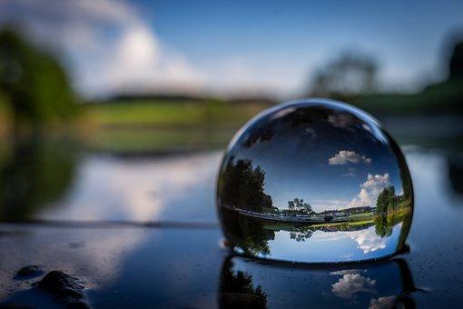 Nature, Landscape, Glass Ball Photography, Lake, Water