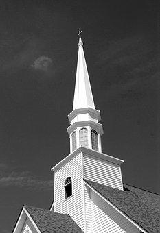 Church, Steeple, Building, Architecture, Landmark