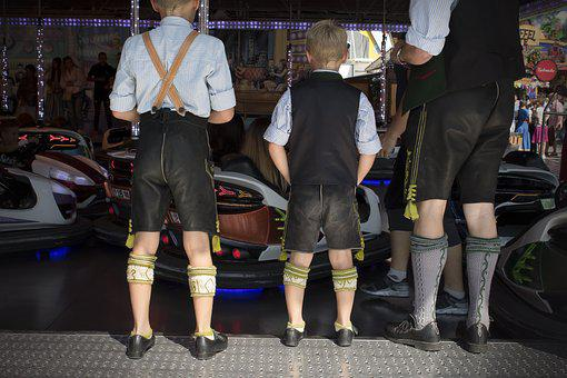 Children, Man, Leather Pants, Calf Warmer