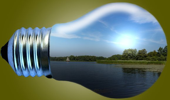 Light Bulb, Landscape, Water, Assembly, Lamps, Nature