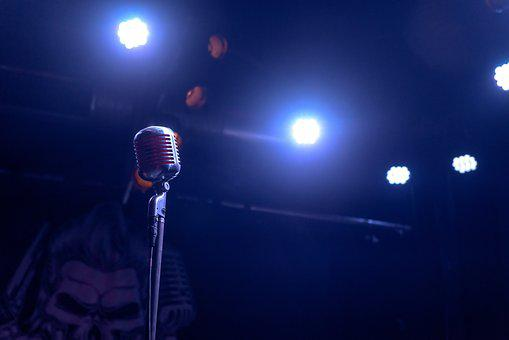 Music, Microphone, Stage