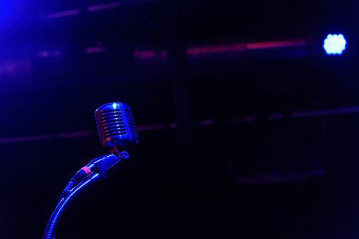 Stage, Microphone, Music, Live