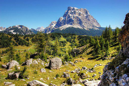 Monte Pelmo, Dolomites, Alpine, Italy, Rock, Belluno