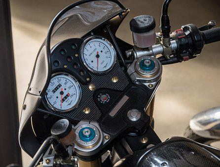 Motorcycle, Display Instruments, Speedometer