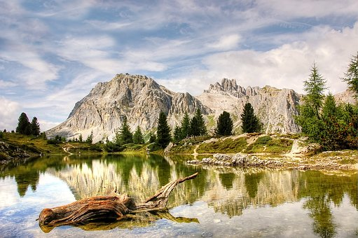 Lagazuoi, Dolomites, Bergsee, Viewpoint, Mountaineering