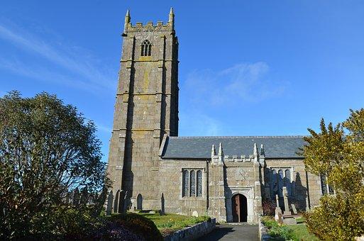 St Buryan Church, Cornwall, Near Lamorna Cove