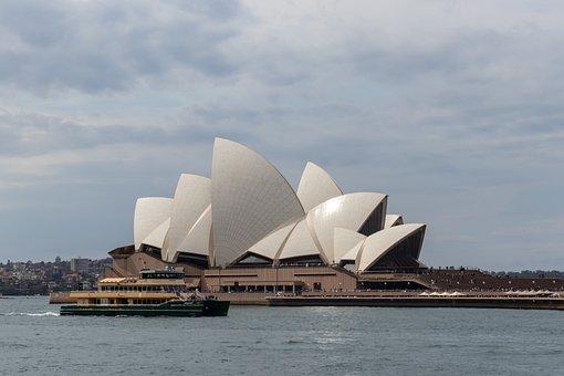 Sydney, Opera, House, Ferry, Landmark, Water, Harbour