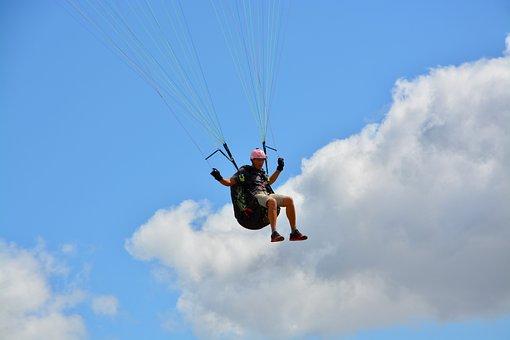 Paragliding, Paraglider, Landing Paraglider Pilots