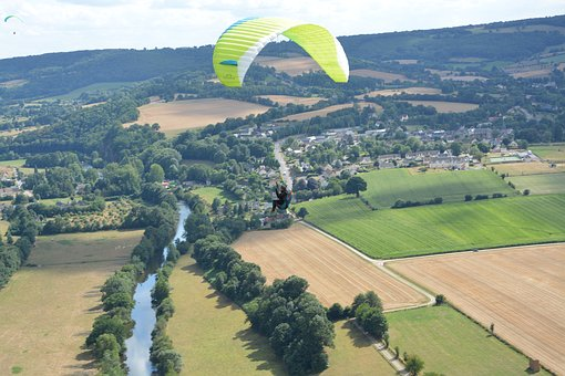 Paragliding, Panoramic Views, Paraglider