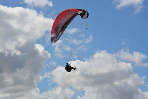Paragliding, Sport, Leisure, Free Flight, Air, Sky