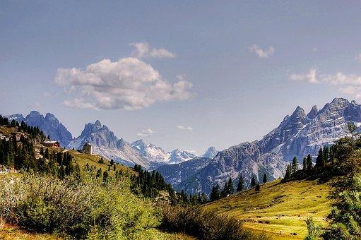 Prato Piazza, Dolomites, Cadini, South Tyrol, Landscape