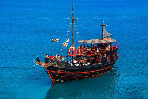 Cruise Boat, Pirate Ship, Sea, Boat, Tourism, Vessel